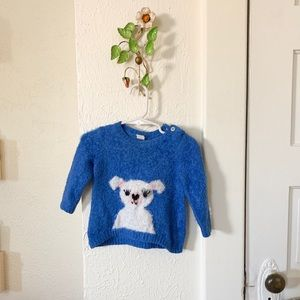 Cute, fuzzy blue sweater - 6 mo